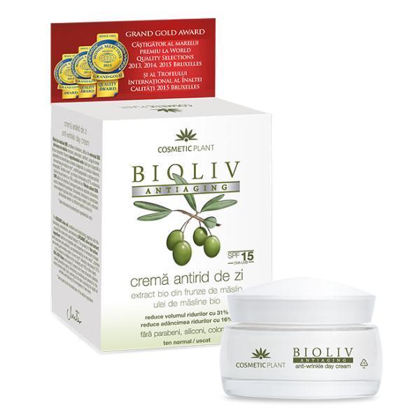 Nappali Ránctalanító Krém SPF 15 Bioliv Antiaging Cosmetic..