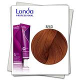 Permanens hajfesték - Londa Professional 8/43 Világos szőke réz-arany árnyalattal