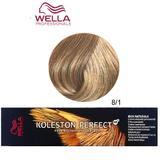 Permanens krém-hajfesték - Wella Professionals Koleston Perfect ME+ Rich Naturals, árnyalat 8/1 Hamvas Világosszőke