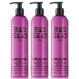 Sampon Csomag a Kezelt Hajra, 3 db.  - TIGI Bed Head Dumb Blonde Shampoo 400 ml