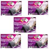 Csomag 5 x Egyszer Használatos Pelerin Polietilénből - Beautyfor Disposable Polyethylene Peignoir, fekete, 50 db.