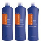 Csomag 3 x Narancssárga Tónusok Elleni Sampon  - Fanola No Orange Shampoo, 1000ml