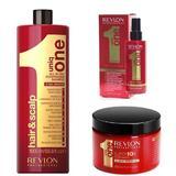 Nutritív Hatású Hajápoló Csomag - Revlon Professional Uniq One All In One: Sampon 1000 ml, Hajmaszk 300 ml, Hajkezelés 150 ml