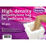 Egyszer használatos pedikűr tasak polietilénből  - Beautyfor Polyethylene bags for Pedicure Bath, 50 db