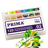 Fogászati papírtölcsérek/kúpok Gutta Percha, Prima, vegyesek 45-80, 120 db.
