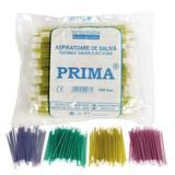Nyálelszívó cserélhető fejjel Prima, piros,15cm, 100 db.