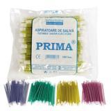 Nyálelszívó cserélhető fejjel Prima, sárga, 15cm, 100 db.