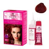 Permanens hajfesték - Kallos Glow Long Lasting Cream Hair Colour árnyalat 660 Gránát vörös