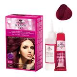 Permanens hajfesték - Kallos Glow Long Lasting Cream Hair Colour árnyalat 566 Ibolya vörös