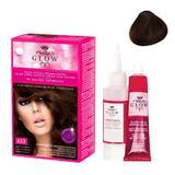 Permanens hajfesték - Kallos Glow Long Lasting Cream Hair Colour árnyalat  653 Csokoládé barna